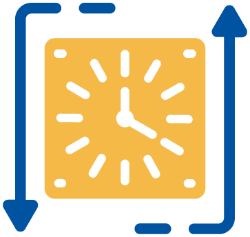 Less downtime icon